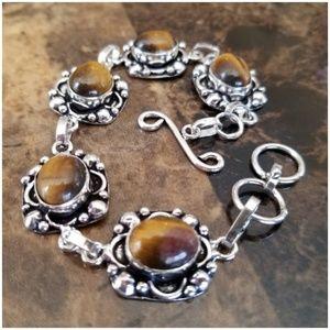 """Jewelry - Tiger Eye Bracelet Size 7"""""""